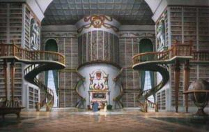 Library in the Beast's Castle (Beauty and the Beast)